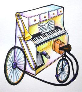 走るピアノ原画